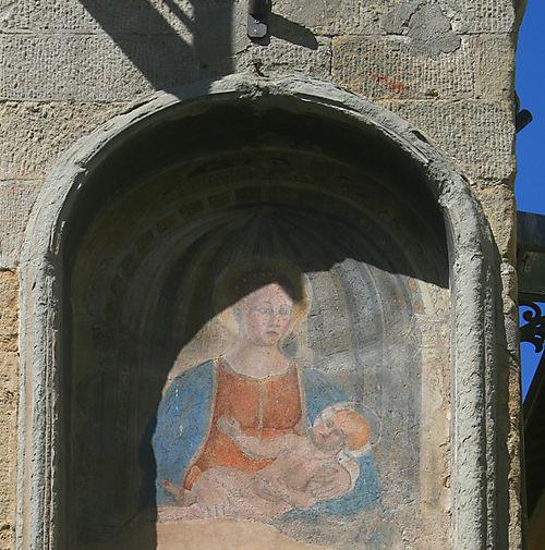 Frescoed Madonna in Arezzo, Tuscany